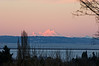 Mt. Baker from south Seattle, winter 2010, 4:15pm