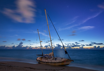 Shipwrecked Sailboat