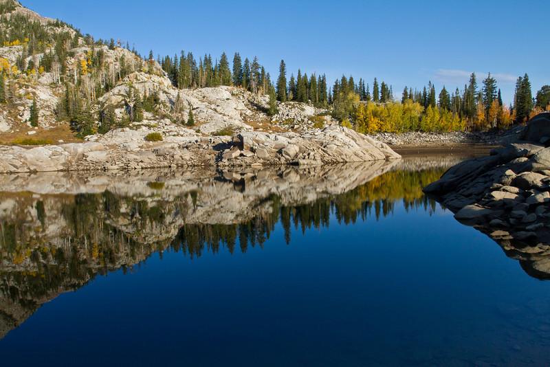 Alpine lakes at sunrise<br /> Brighton Lakes Trail<br /> Utah