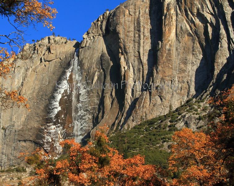 Yosemite Falls on a Cold Morning