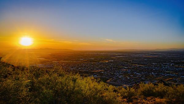 Evening Sun on South Mountain, Phoenix, AZ
