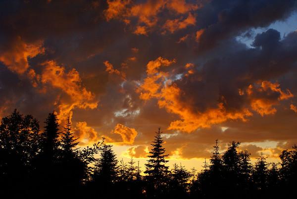 Sunset at Mount Mitchell.  Photo taken 21 June 2010.