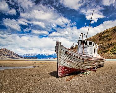 The good ship Cristina,Los Glaciares National Park, Patagonia, Argentina