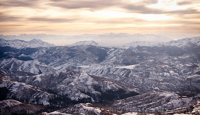 Wasatch Back Country from Above