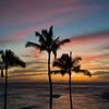 Hawaiin sunset, Kauai.