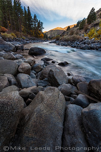 Main Payette River in Idaho on a cold October morning