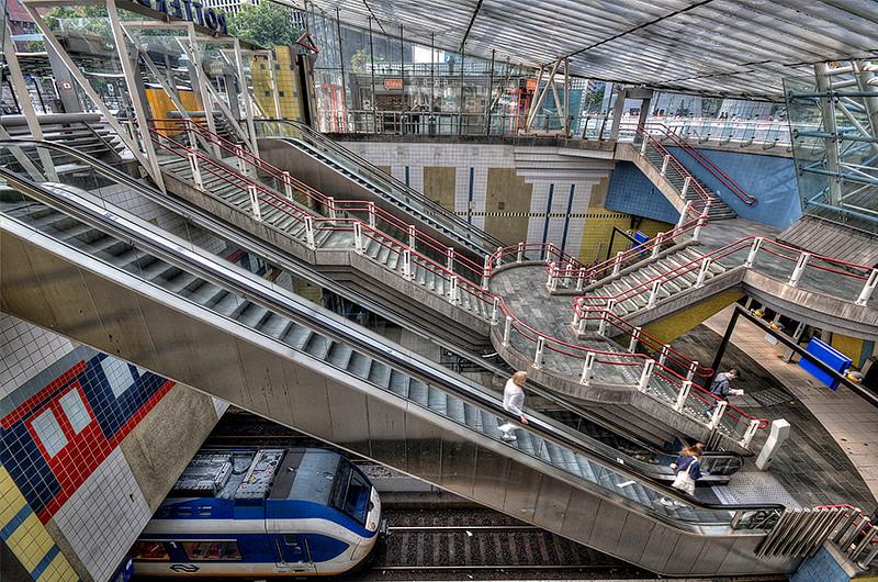 Rotterdam Metro Station
