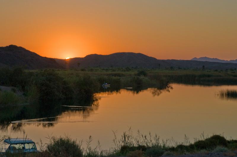 Sunrise at Squaw Lake, Colorado River. CA