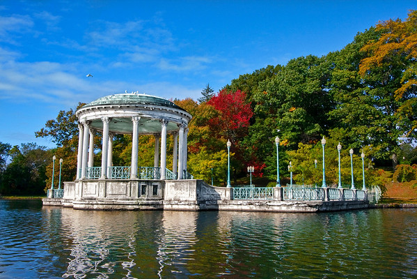Another photograph from a fruitful outing in Roger Williams Park Zoo in quaint Rhode Island. I had no idea what the heck this structure was, but some judicious use of Google has turned up that it's a Bandstand. A pretty ornate bandstand, if you ask me! And if it enhances your enjoyment, know that I was probably stepping in goose poop while I was framing this shot.  A note from a technical standpoint. My 30 day free trial of Topaz Adjust ran out, so I am proud to announce that I purchased a copy. Use coupon code STUCKINCUSTOMS ala the fantastic Trey Ratcliffe to save 10% on this fantastic piece of software. I think I'm done with Lucis, which was a much more expensive piece of software.  EF-S 10-22mm f/3.5-4.5 USM @ 22mm ISO400, f/14 at 1/320 sec exposure