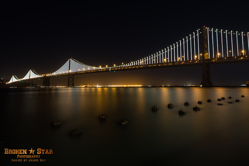Bay Bridge @ after dark.  San Francisco, California