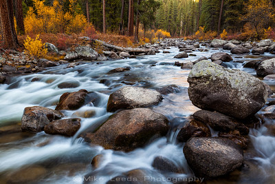 Middle Fork Payette River in Idaho on an October evening.