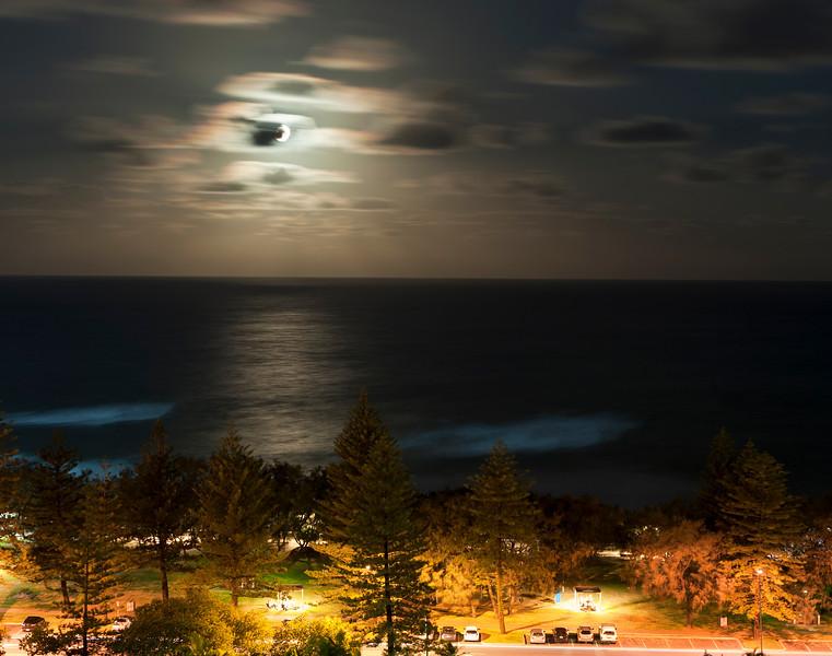 Moonlight at Main Beach, Gold Coast
