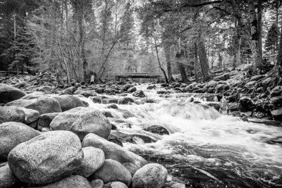 Merced River BW