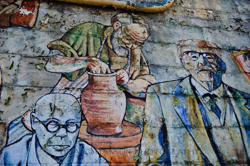 Three men wall art