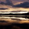 Float plane at sunset on Okanagan Lake