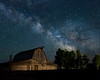 T.A. Moulton Barn and the Milk Way. Grand Teton National Park, Wyoming
