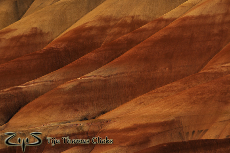 Painted Hills / Mitchell / Oregon<br /> <br /> A closeup of the Painted Hills Unit in Mitchell Oregon