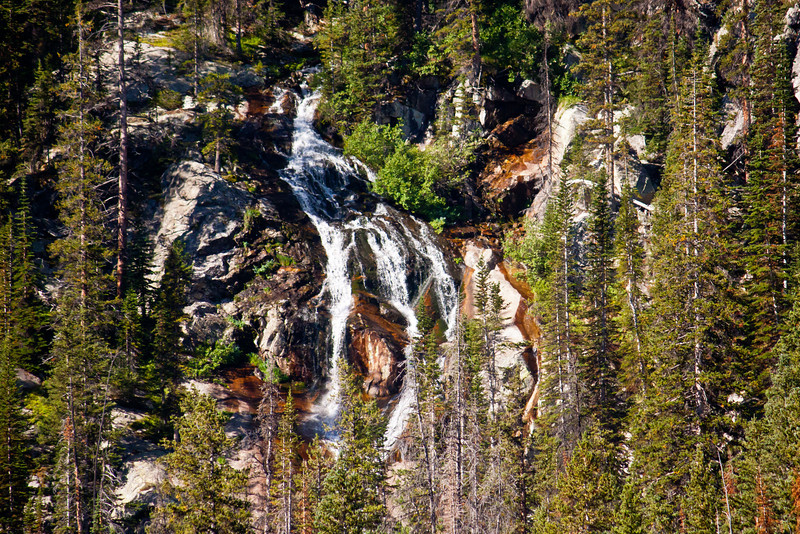 Mountain Waterfall.  Bighorn Mountains.
