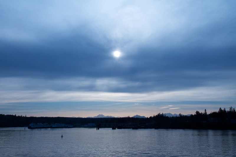 The fading sun