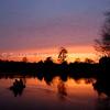 Fishermen at Sunset on Duncans Lake
