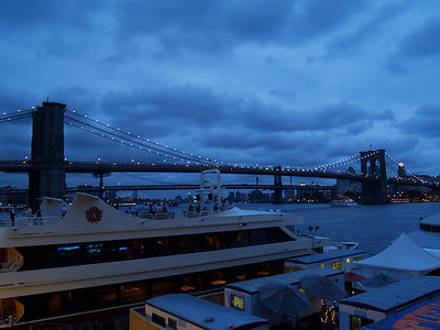 The Brooklyn Bridge Photo taken from South Street Seaport
