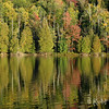 Autumn Reflection. Photograph - Forest reflected in Lac a la Truite, near Wakefield, Quebec. © Rob Huntley