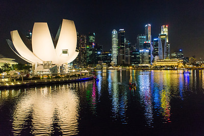 Singapore Night Scene - Reflections