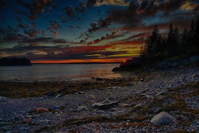 Harrington, Maine sunset