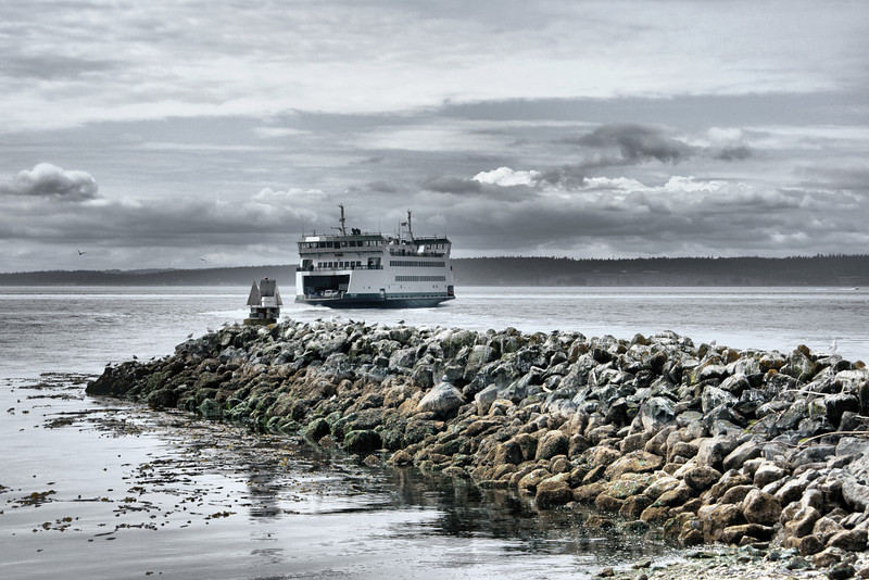 Port Townsend-Coupeville ferry. Coupeville, WA, United States