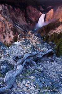Before Sunrise, Grand Canyon of the Yellowstone, Lower Falls.