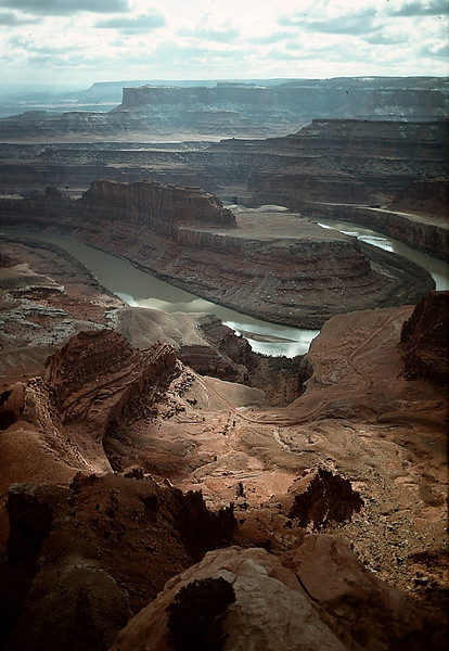 Colorado River and Canyonlands National Park from Dead Horse Point State Park, Utah