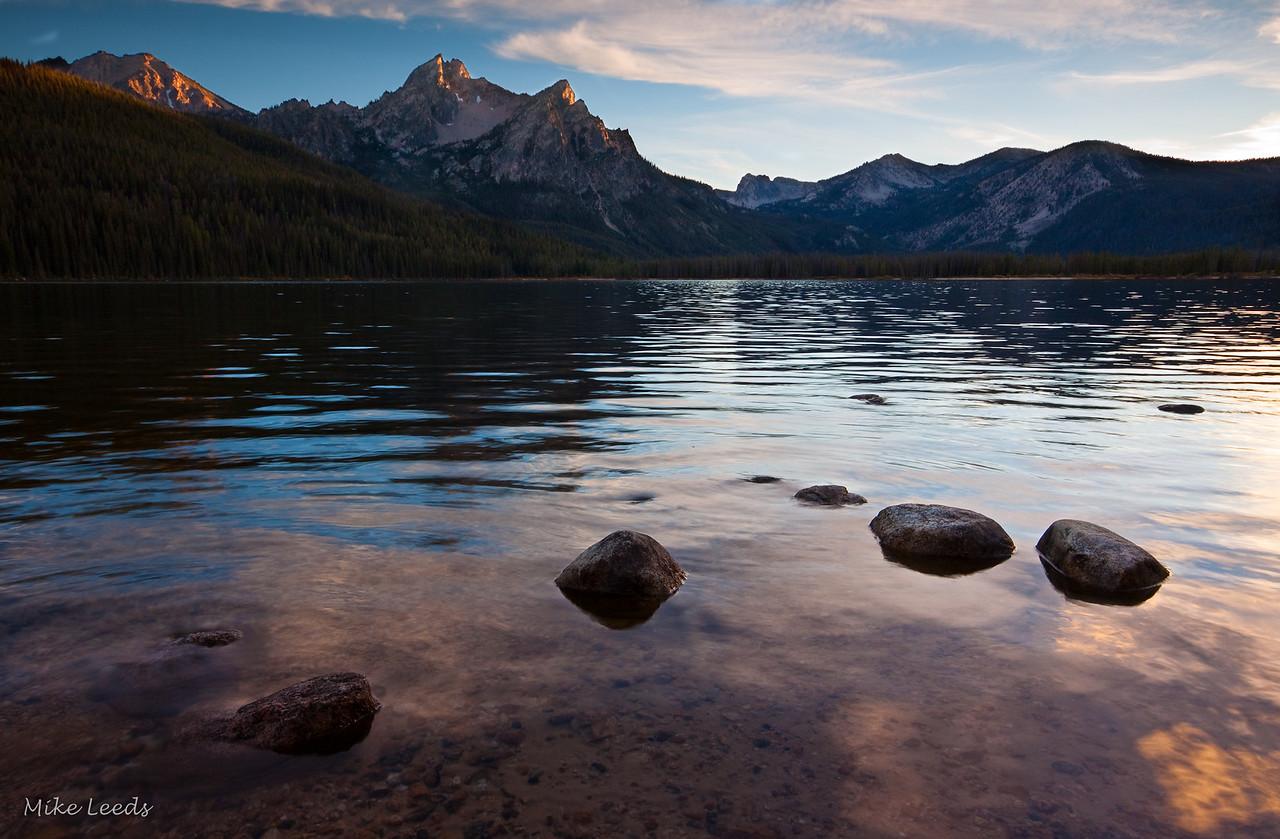 Evening at Stanley Lake, Idaho.
