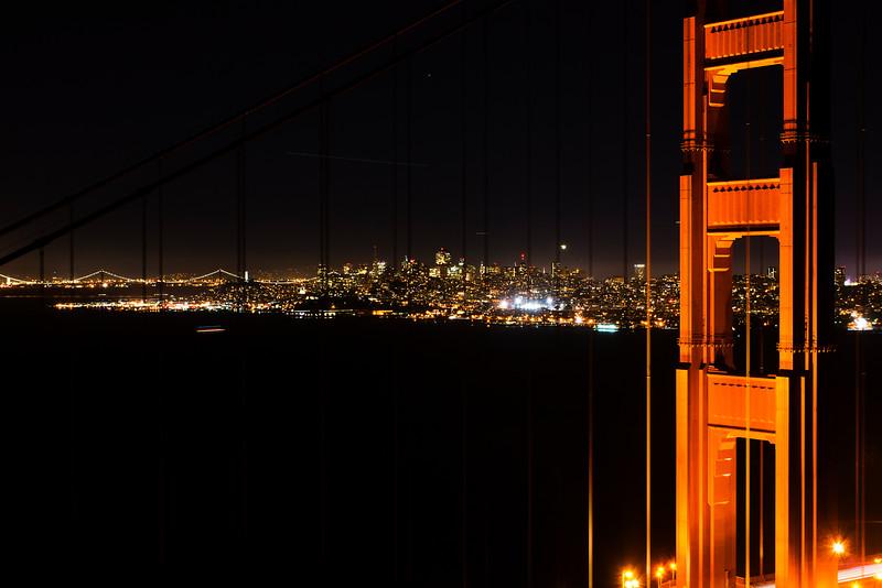 San Francisco city and Golden Gate Bridge