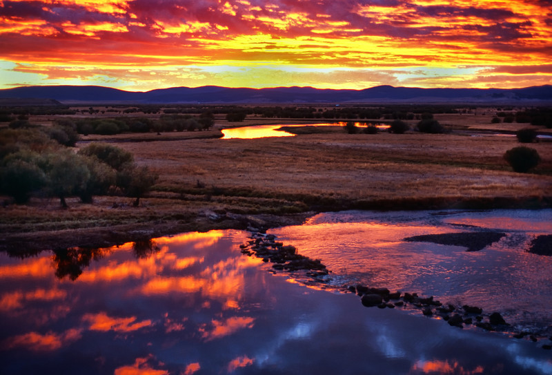 Sunset in the Big Hole Valley, Montana