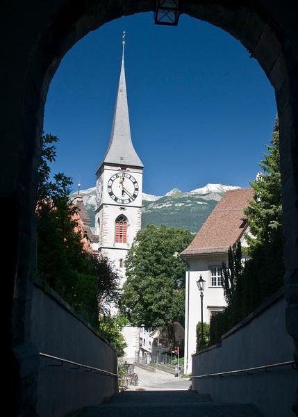 A church in Chur, Swiss.