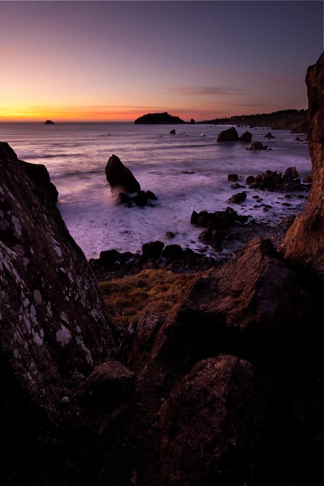 Ocean near Trinidad California on a November evening
