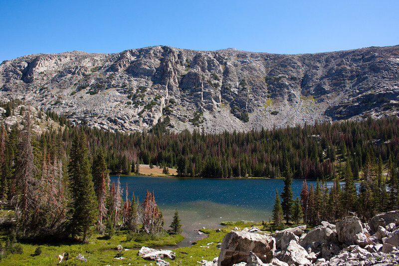 Crystal Lake in the Big Horn Moutains.