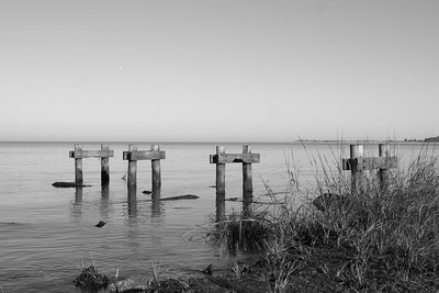 Remains of the old pier @ Cherrystone Campground, Va.