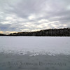 Burke Lake frozen over after snow storm