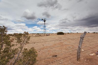 A New Mexico Windmill Scene