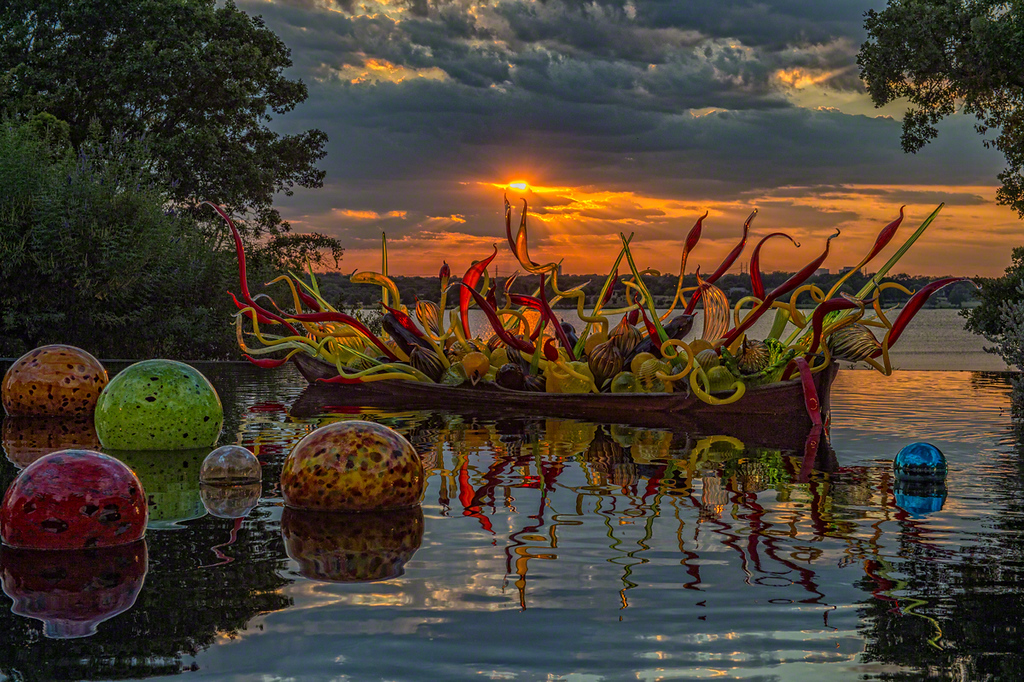 Chihuly at Sunset