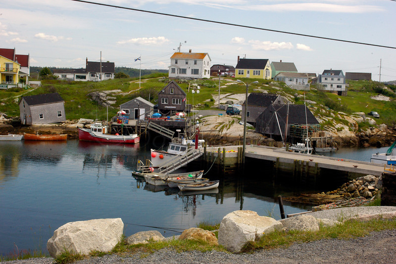 Looking across the Harbor,  Peggy's Cove, Nova Scotia, Can, from near Lighthouse.