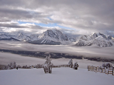 View from top of Lake Louise ski area,  January 2005
