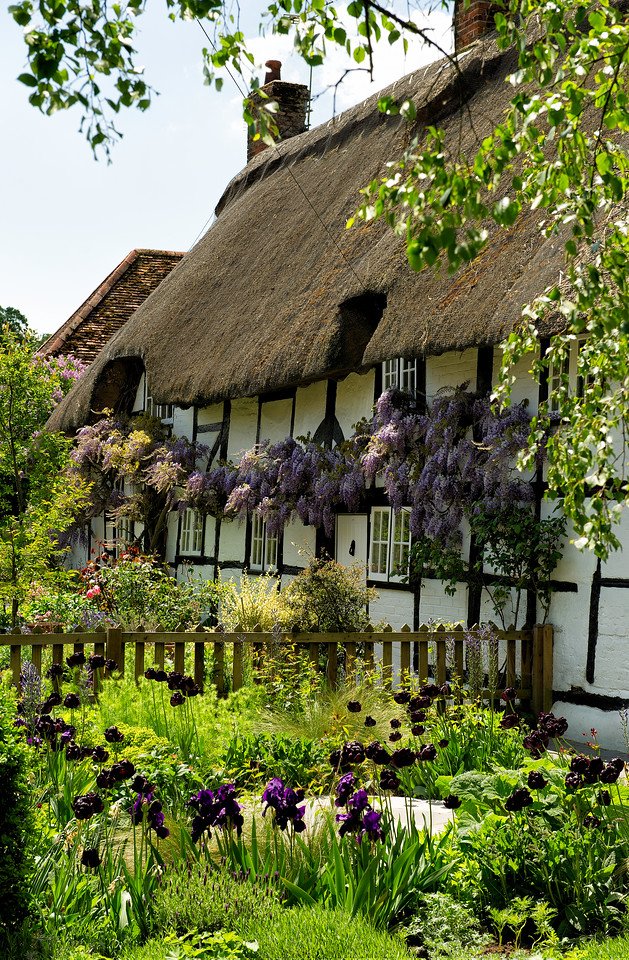 Easton, Thatched Cottage, Hampshire Village, River Itchen