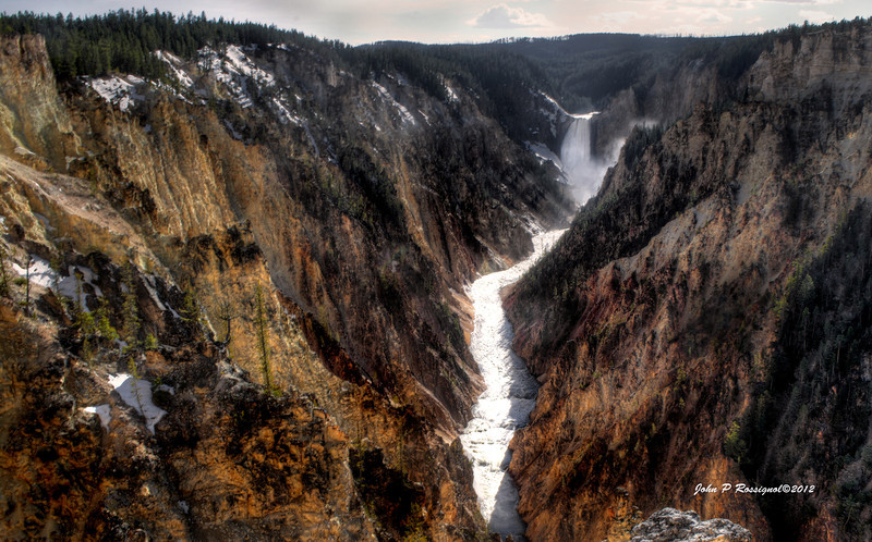 Lower Falls at Yellowstone National Park