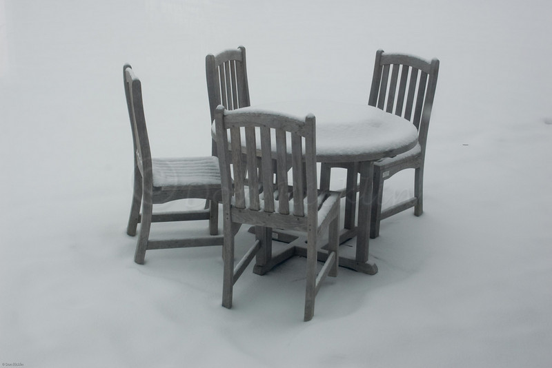 Snowy Table Setting