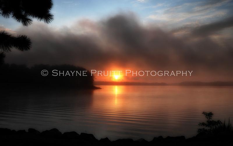 Sunrise at Buford Dam in Cumming, Georgia