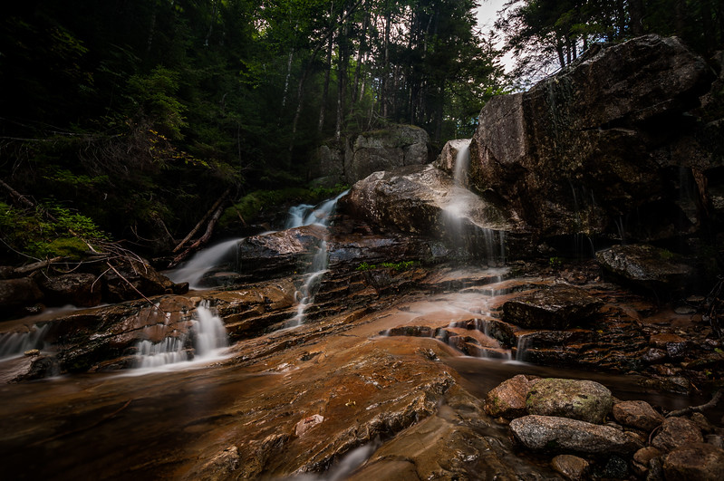 Cloudland Falls, Falling Waters Trail - White-Mountains, New Hampshire