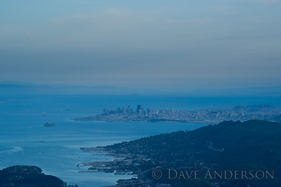 San Francisco as seen from the top of Mount Tamaplais.