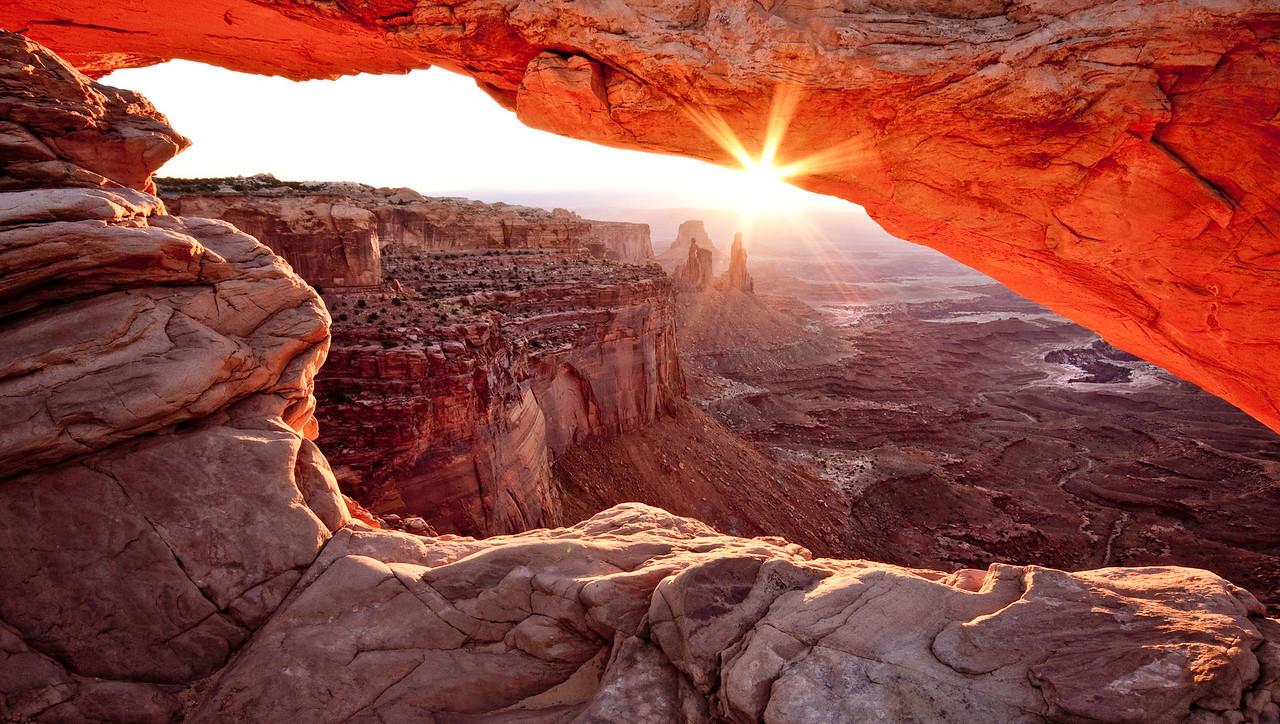 Mesa Arch at Sunrise, Utah.